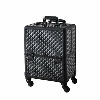 Professional Makeup Artist Train Case Rolling Trolley Cosmetic Storage Organizer