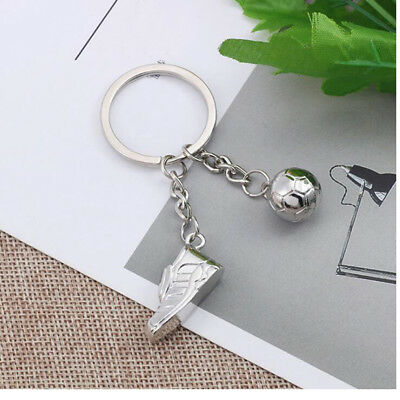 Soccer Shoe & Ball Keyring Pendant Key Bag Chain Ring Keychain Gift 6A