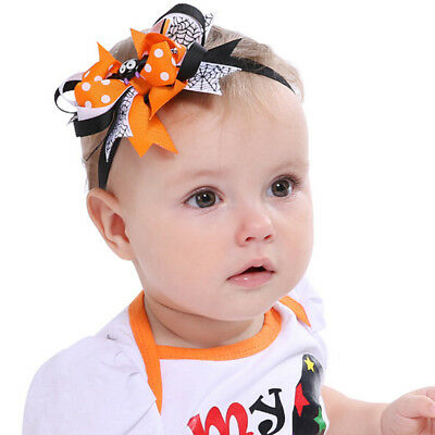 Halloween Spider Bat Bow Headband Hair Band Hair Accessories For Kids Adults LG