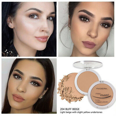 PHOERA Face Pressed Powder Hydrating Powder Foundation Facial Beauty Cosmetic!!