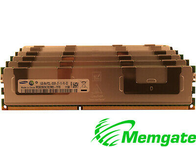 64GB (4x16GB) DDR3 PC3-8500R 4Rx4 ECC Reg Server Memory For Dell PowerEdge R510