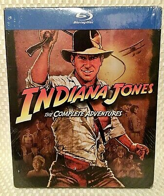 INDIANA JONES🗿The Complete Adventures [5 Disc] Blu-ray Box Set Collection❗️