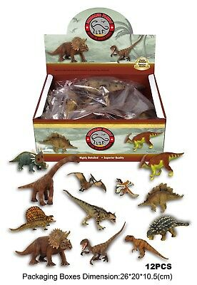12pcs Toy Dinosaur Rubber Play Figures Children Stuffed Action Figure For Kid US