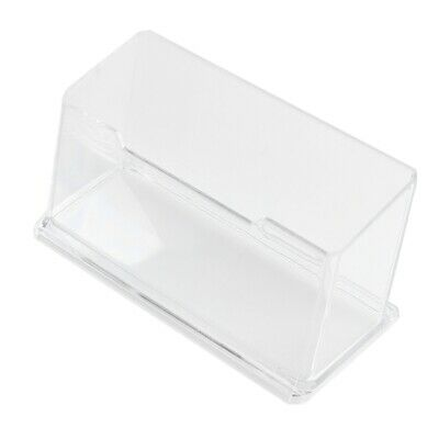 2X(New Clear Desktop Business Card Holder Display Stand Acrylic Plastic Des D7)