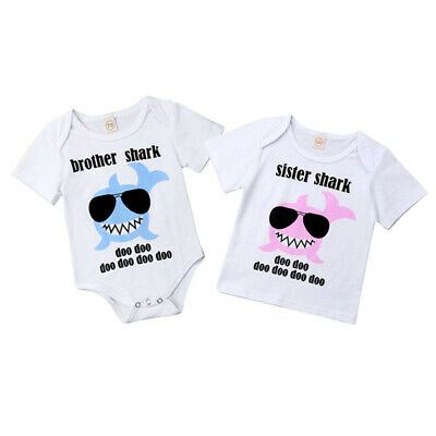 USA Toddler Kid Baby Boys Girls Little Brother Big Sister Romper T-shirt Outfits
