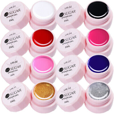 UR SUGAR 8 Boxes 5ml Nail UV Gel Polish Spider Gel Manicure Nail Art Liner Gel