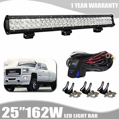 Slim 162W 25Inch Led Light Bar Dual Row For Driving Lamp Suv Jeep 4Wd Boat Ute