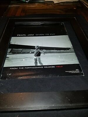 Pearl Jam Given To Fly Rare Original Radio Promo Poster Ad Framed!