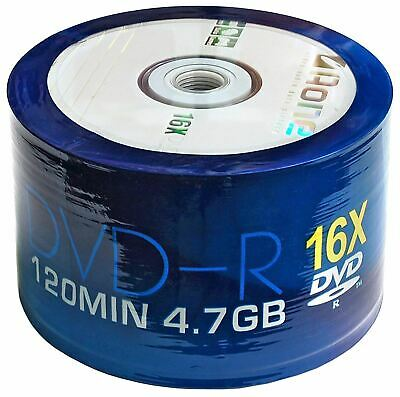 AOne DVD-R 120 Minutes 4.7GB 16x Speed Recordable Blank Discs - 50 Pack Shrink