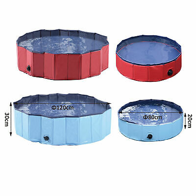 PawHut Pet Pool Swimming Cat Puppy Dog Indoor / Outdoor Foldable 80 cm Diameter