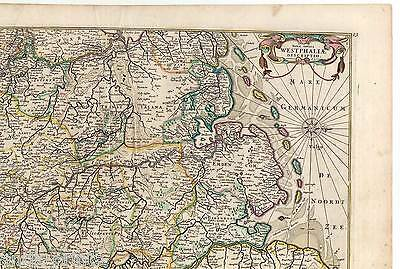 Westfalen - Nova totius Westphaliae descriptio - de Wit - Karte-Map 1680