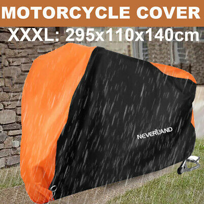 XL Large Motorcycle Cover Waterproof Outdoor Motorbike Rain Vented Protective