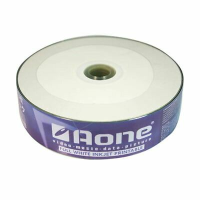 AOne CD-R 80 Mins 700MB 52x Speed Inkjet Printable Record Blank Discs - 25 Pack