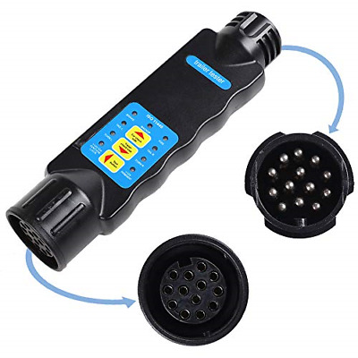 AOHEWEI 13 Pin Trailer Lights Plug and Socket Tester 12V Wiring Circuit for Car
