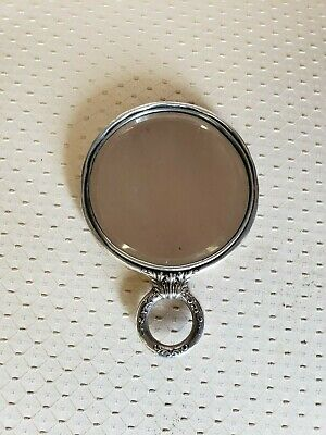 Antique Hand Mirror Sterling Silver Ornate Swirl Pattern A Beauty Free  Ship!