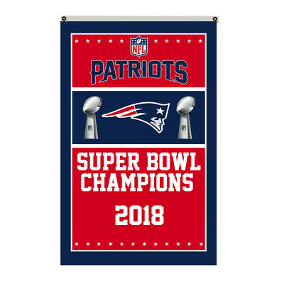 New England Patriots 2018 Super Bowl Champions Flag Deluxe Banner 3'x5'Feet