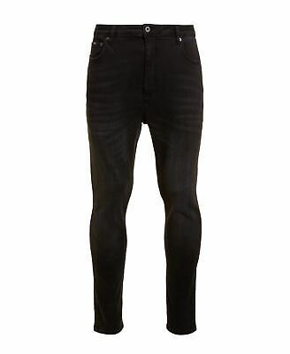 New Mens Superdry Factory Second Spray On Skinny Ankle Jeans Washed Black