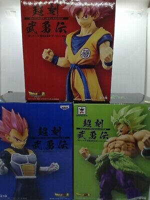 Dragon Ball super Figure Statue Choukoku Buyuuden Movie BANPRESTO 3 set & track