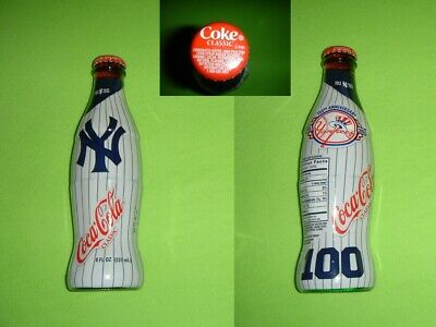Coca Cola Coke Yankees Baseball 1903-2003 Flasche/bottle/bouteille/bottiglia RAR