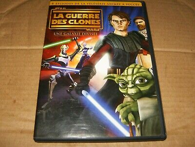 Star Wars: Clone Wars - A Galaxy Divided (DVD, 2009, French Canadian) Used.