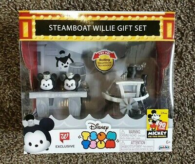 Disney Tsum Tsum Steamboat Willie Gift Set Walgreens Exclusive 90th Mickey Mouse