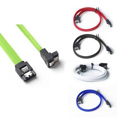 1X(50CM SATA 3.0 III SATA3 7pin Data Cable Right Angle 6Gb/s SSD Cables HDD U8H2