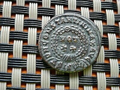 Constantine I The Great 308-337 Ad Ae Follis Vot In Wreath Siscia Mint.