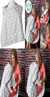 Nursing Cover with Sewn In Burp Cloth for Breastfeeding Infants | FREE...