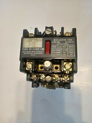Allen Bradley 700-Nm400A1 Ser D Type Ac Latch Relay 120V Control