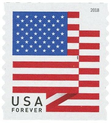 *400 FOREVER STAMPS* 4 rolls of 100 2018 USPS Forever US Flag Stamp Coils