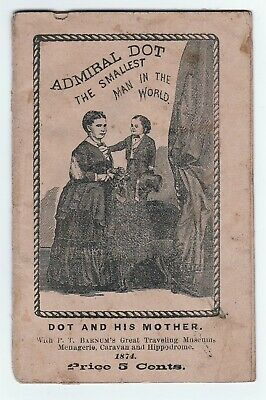 x RARE Miniature Book - Admiral Dot - Smallest man in World - Circus Barnum 1874