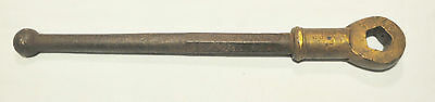 Adjustable Fire Hydrant Wrench, Brass head, Steel handle, as pictured, undated