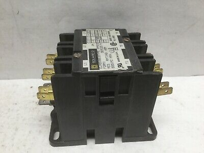 Square D 8910 DPA33 Definite Purpose Contactor Series A 40A 600VAC