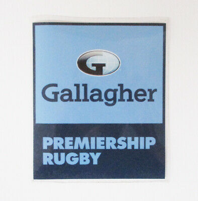 GALLAGHER RUGBY ENGLISH PREMIERSHIP ADULTS SIZE = 60mm WHITE LETTER D