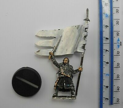 BOROMIR OF THE WHITE TOWER with BANNER Metal Lord of the Rings LOTR Good Army 7