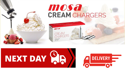 MOSA 8g NOS N2O NOZ Canisters Whipped Cream Chargers & Dispensers