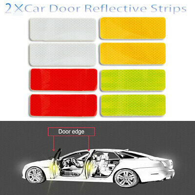 Safety Driving Luminous Stickers  Car Door Reflective Strips  Warning Mark