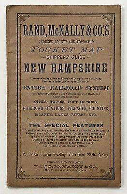 NEW HAMPSHIRE. Rand, McNally Pocket Map of New Hampshire. 1893. With map.