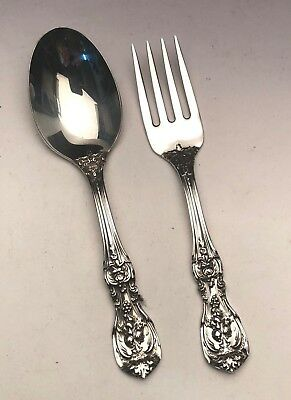 Francis I by Reed & Barton 2 Piece Baby Fork & Spoon Set, Sterling Silver, NEW