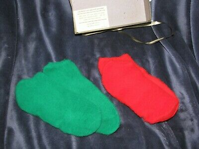 Vtg Red Green Bootie Socks Orlon Acrylic New