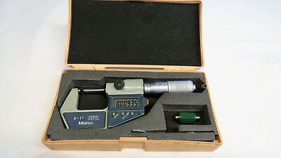 "Mitutoyo 293-725-30 Micrometer 0-1"" .00005"" 0.001mm GREAT SHAPE"