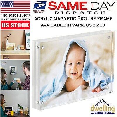 Acrylic Picture Frame | Magnetic Photo Holder |