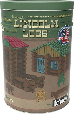 LINCOLN LOGS Mountaintop Hideout Tin - 138 Pieces
