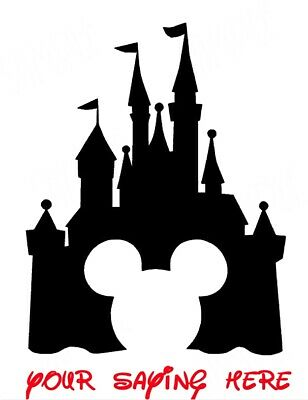 Disney ******Mickey Mouse****Castle **Personalized  T-Shirt Iron On Transfer