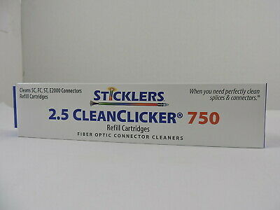 MicroCare Fiber Optic Connector Clicker Cleaner 750, Sticklers, TWIN PACK REFILL