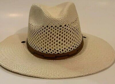 84f3d9c87aa Men s Stetson Airway Vented Panama Straw Hat -Natural Size Small - No  Drawstring