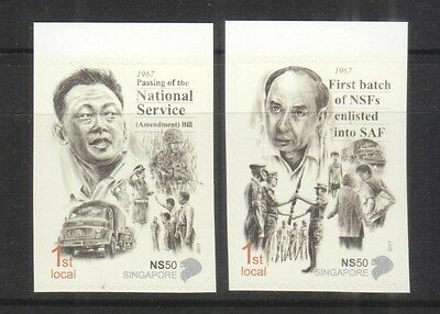 Singapore 2017 Ns50 50 Years Of National Service Self Adhesive Set Of 2 Stamps