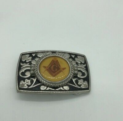 Vintage Rare FREEMASONS Emblem Belt Buckle