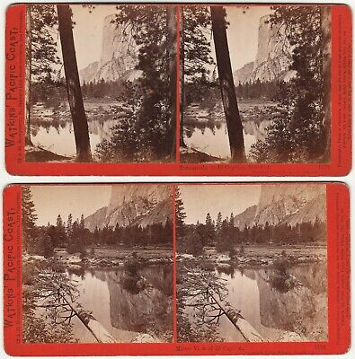 2 Stereoview Photos - El Capitan Yosemite National Park Carleton Watkins  c 1865