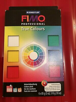 Fimo Professional : True Colours Polymer Clay Starter Pack 6 x 85g Blocks
